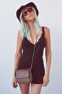 Knit-urban-outfitters-dress-rvca-hat-spiked-alainn-bella-bag