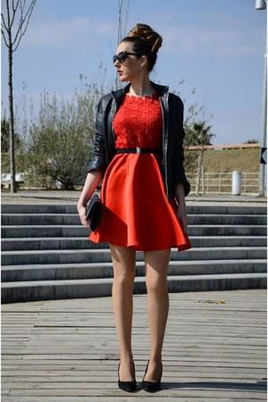red Sheinside dress - black Lodi heels