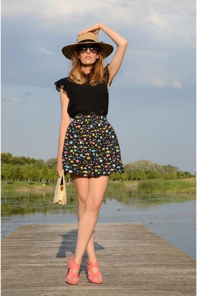black Mango top - black Compania Fantastica skirt