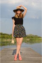 black Mango top - black Compania Fantastica skirt