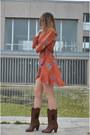 Burnt-orange-zaful-dress