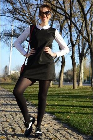 black Compania Fantastica dress - red Bershka coat