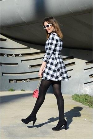 black romwe dress - black Mango blazer