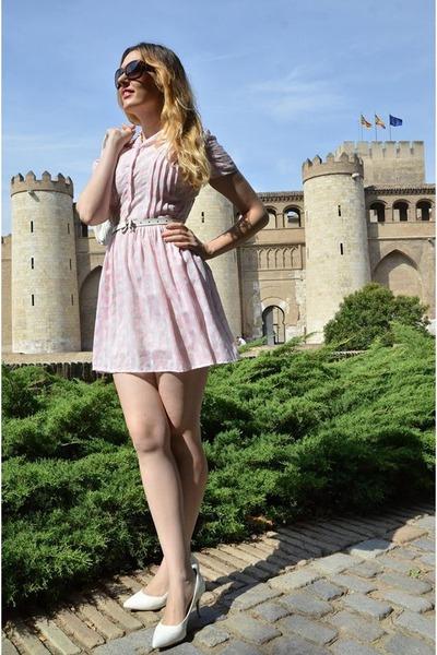 light pink Blue Velvet Vintage dress