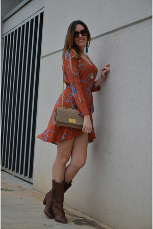 burnt orange zaful dress