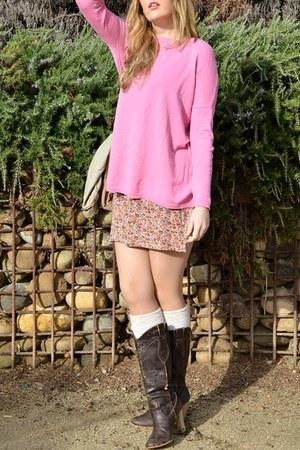 bubble gum Zara sweater