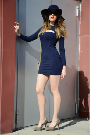 navy zaful dress