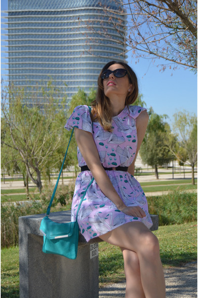 light pink Compania Fantastica dress - black Bershka flats