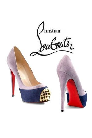 silver Christian Louboutin shoes
