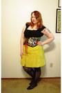 Chartreuse-asos-skirt-black-etsy-belt