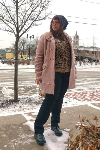 teal vintage accessories - dark green Fluevog shoes - light brown Target sweater