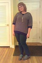 Kirna Zebeta sweater - Fluevog shoes - new york & co pants