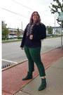 Dark-green-vintage-boots-black-vintage-jacket-black-dollar-store-scarf
