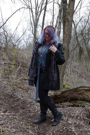 black black riviet jacket - charcoal gray Amazon scarf