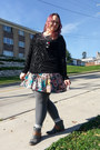 Gray-roxy-boots-teal-target-dress-red-grit-and-spark-necklace