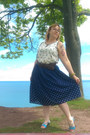 Navy-deconstructed-vintage-skirt-white-kensie-top-sky-blue-payless-sandals