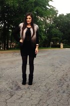 ankle boots Steve Madden boots - mesh BCBGMAXAZRIA sweater - ombre BCBG vest