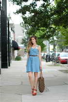 Lulus dress - Ruche bag - Jeffrey Campbell heels - Spotted Moth necklace