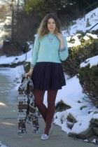 aquamarine vintage sweater - dark brown Dolce Vita jacket