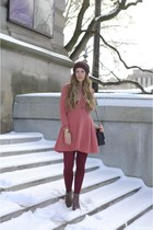 coral free people dress - light brown matiko Lulus boots
