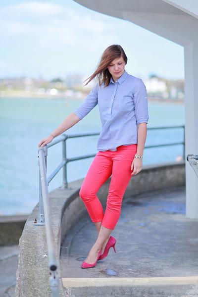 Aldo heels - Zara shirt - Bershka pants
