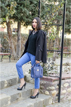 Tally Weijl blazer - PERSUNMALL bag - Terranova pants - Zara necklace