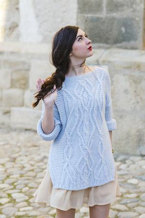 knitted Zara sweater - Michael Kors watch