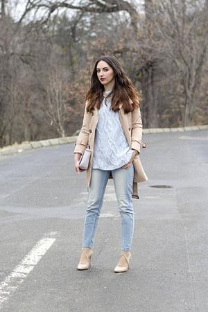 Zara sweater - PERSUNMALL coat - Orsay jeans - H&M bag - Zara heels