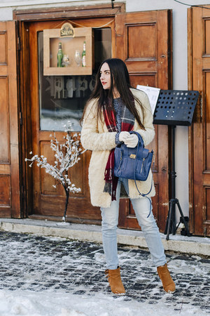 Zara coat - Orsay jeans - c&a sweater - PERSUNMALL bag