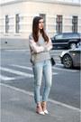 Orsay-jeans-zara-jacket-zara-heels-h-m-sweatshirt-michael-kors-watch