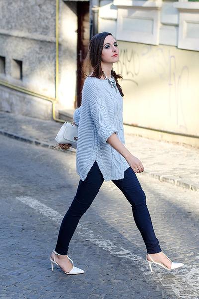 910298e1dbe Zara sweater - H M leggings - Zara heels