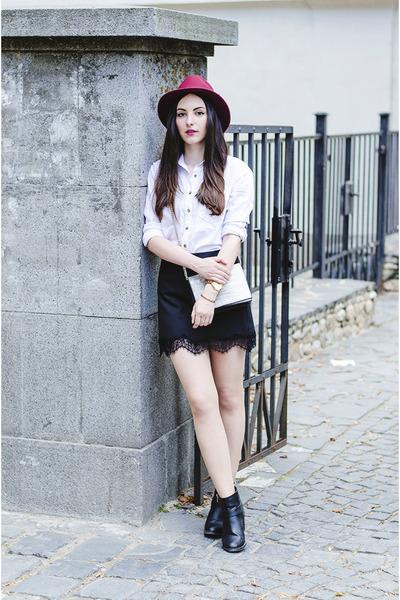 H&M boots - wool Ecua-andino hat - H&M shirt - H&M bag - Zara skirt