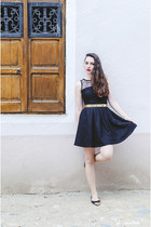black Kristines Collection dress - black H&M flats
