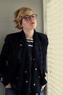 Brown-oliver-people-glasses-black-silence-noise-blazer-blue-lark-and-wolff