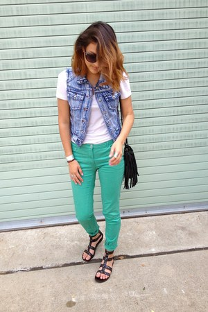 H&M bag - Aerie shirt - Betsey Johnson sunglasses - H&M pants - Tillys LOST vest