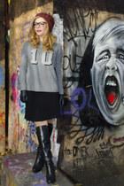 Motivi skirt - H&M boots - Motivi blouse