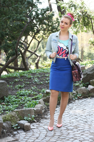 new look jacket - H&M skirt