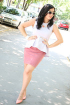 periwinkle H&M top - pink Lee Cooper skirt