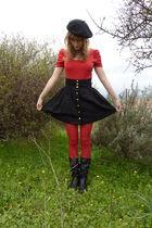 H&M t-shirt - Carnabi boots - H&M skirt