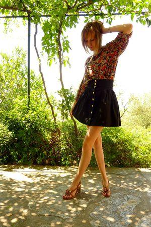 vintage shirt - H&M skirt - Lollipops shoes