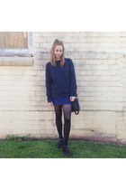 navy sweater jumper Industrie jumper - black mary janes Lipstik shoes