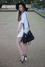Black-hat-felt-hat-mimi-flo-hat-white-shirt-blouse-topshop-shirt