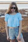 Sky-blue-onatah-shirt-light-blue-wrangler-shorts