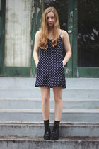black Wholesale7 boots - navy LuLus dress