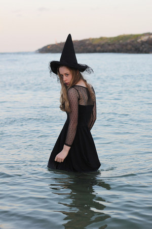 witches hat FDBs hat - black dress LUKA dress - fishnets FDBs stockings