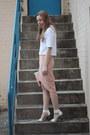 Light-pink-clutch-myer-bag-white-heels-white-kmart-heels