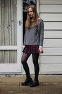 Black-lipstik-shoes-heather-gray-jumper-sweater-cotton-on-jumper