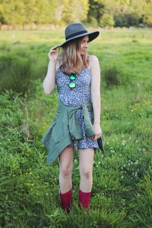 felt hat cotton on hat - blue Junk Clothing dress