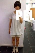 white white onepiece dress