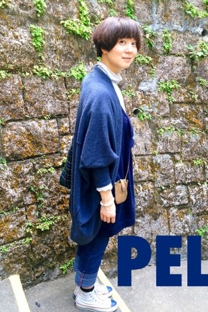 blue oversize cape Topshop cape